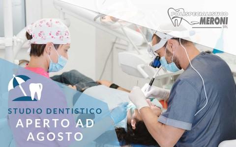 Dentista aperto ad Agosto a Cantù: il nostro studio dentistico non chiude per le vacanze estive