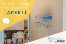 lo studio Polispecialistico di Cantù rimane aperto durante le feste natalizie