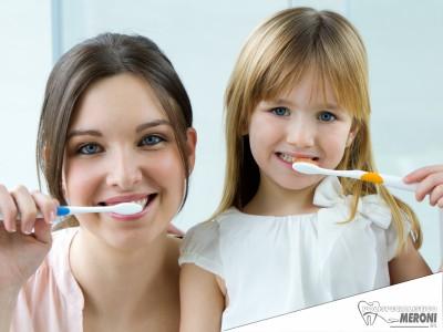 Igiene dentale e prevenzione orale bambini studio dentistico Polispecialistico Meroni